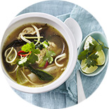 Soupe aux saveurs asiatiques et Tempeh Lima