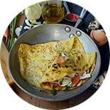 Crêpe d'omelette