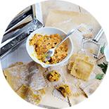 raviolis fromage frais