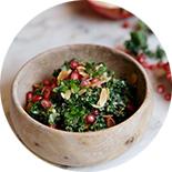salade de grenade et kale